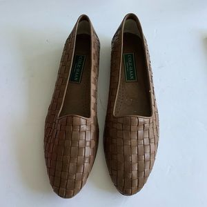 New Cole Hahn Woven Leather flat loafers Sz 10 1-2